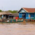 Chong Khneas Floating Village in Tonle Sap