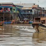 Kampong Khleang Floating Village in Tonle Sap