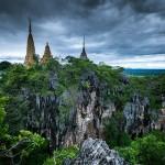 On the top of Phnom Sampeou Mountain