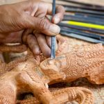 Angkor wood carving in Artisans Angkor - School of Fine Art
