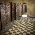 Brick prison cells in Genocide Museum