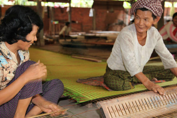 weaving mat, vacation to Cambodia