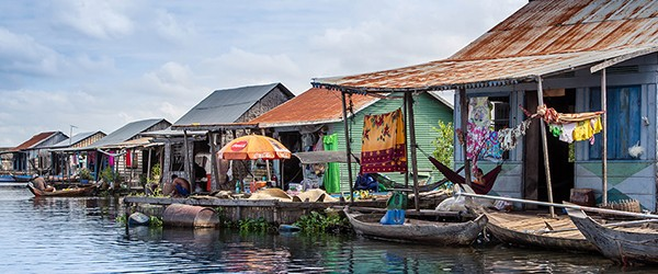 Floating houses in Tonle Sap Lake