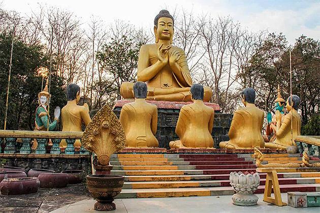 Gautama Buddha in Phnom Pros, Cambodia Tour