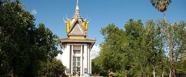 Memorial Stupa at the Killing Fields of Choeung Ek