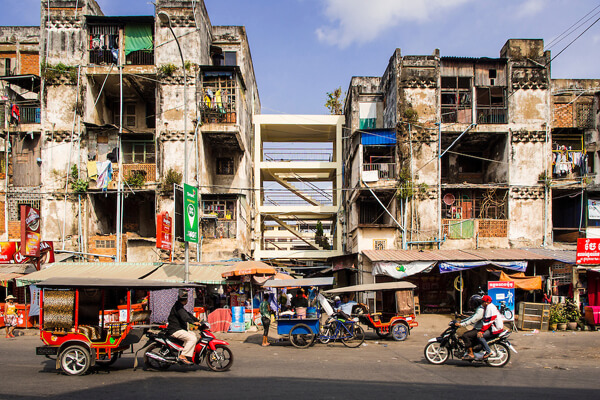Phnom Penh Street, Cambodia packages vacation