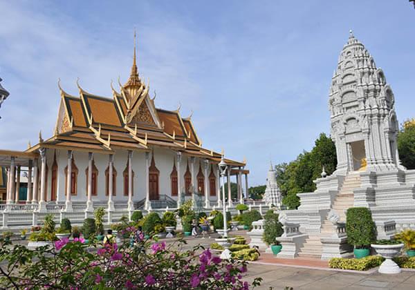 Silver pagoda in Cambodia