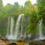 Spectacular waterfall in Kulen