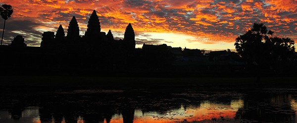 Sunset of Angkor Wat in June