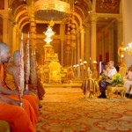 The Cambodia's Monks at Throne Hall