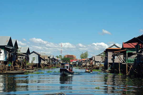 Village of Kompong Phhluk, Tonle Sap Lake