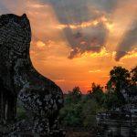 sunset over bakheng mountain, Cambodia travel tours