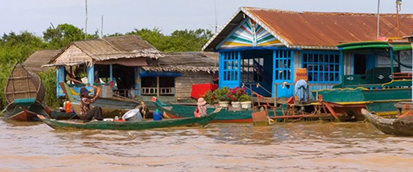 Chong Khneas Floating Village in Tonle Sap