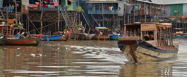 Kampong Khleang Floating Village in Tonle Sap