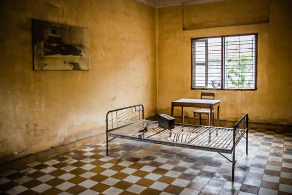 Prison cell in Tuol sleng Museum, Cambodia tours packages