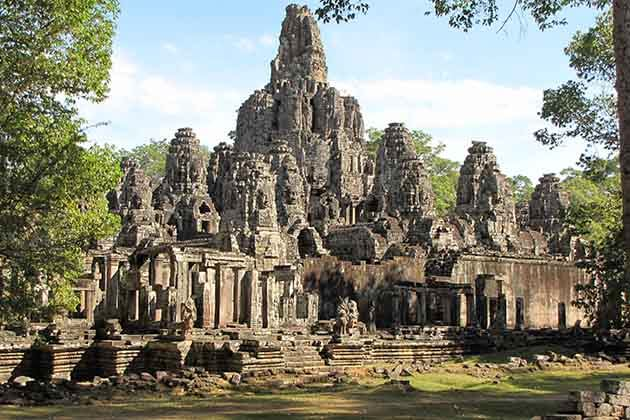 One of the richly decorated temples in Cambodia - Bayon Temple