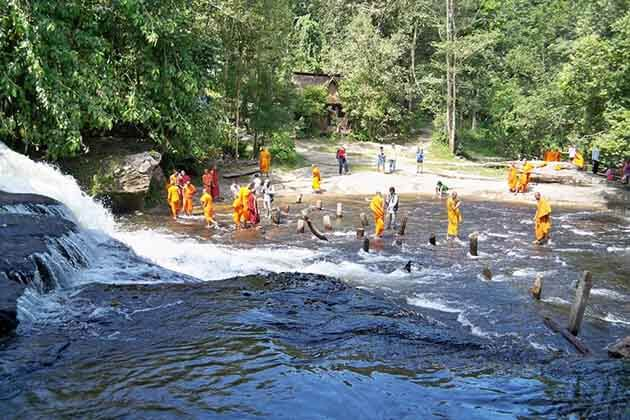 The monks in the Kulen Mountain National Park