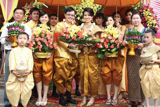 Traditional wedding in cambodia