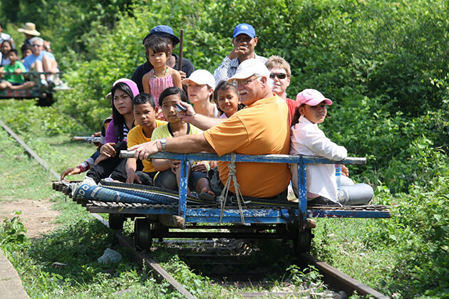 Bamboo train battabang, Trip to Cambodia