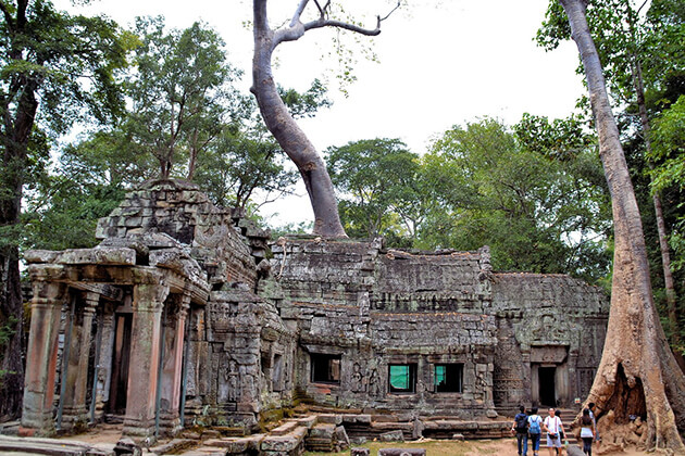 Library at Ta Prohm in Angkor Archaeological Park, Cambodia