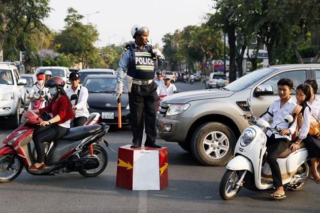Cambodia traffic