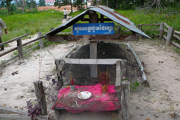 Anlong Veng Cambodia Scary Monument