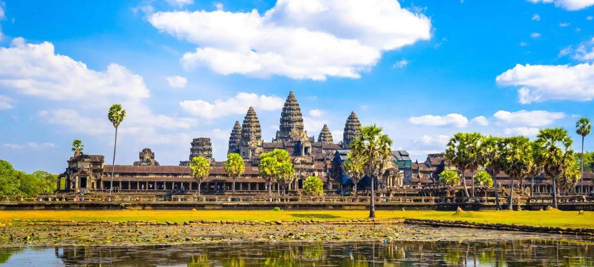 Beautiful landscape at Angkor Wat, Cambodia Tours