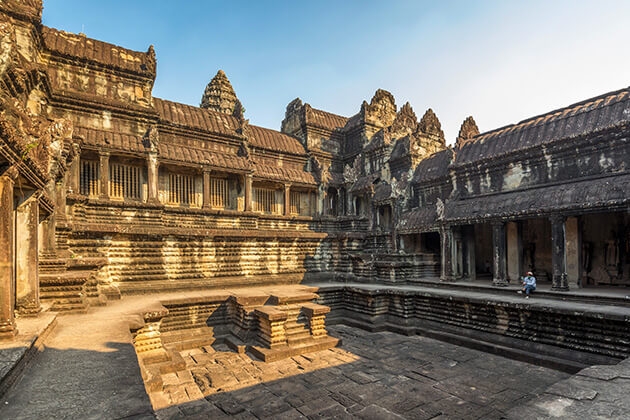a conner of Angkor Wat, Trip to Cambodia