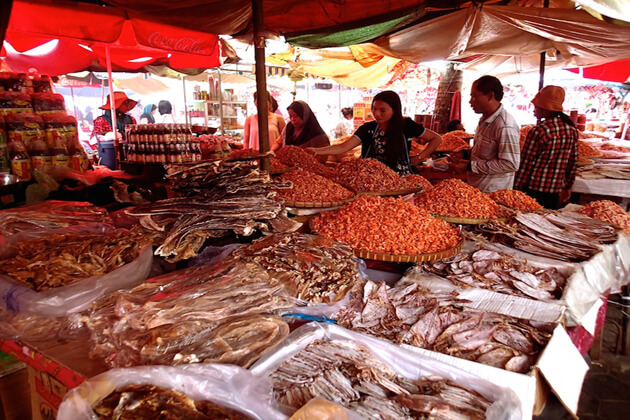 Kep city market, Tour to Cambodia