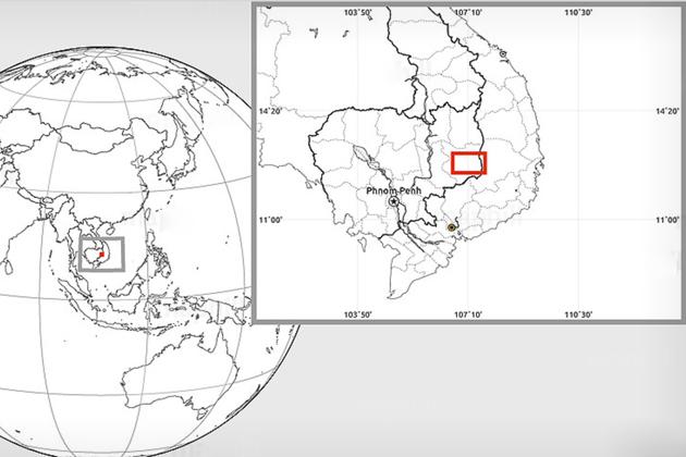 Mondulkiri's Geographical Location