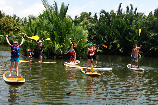 What is stand up paddleboarding in Cambodia