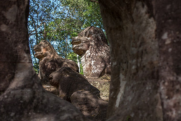 lion and elephant in Kulen temple, Siem Reap Tour Itinerary