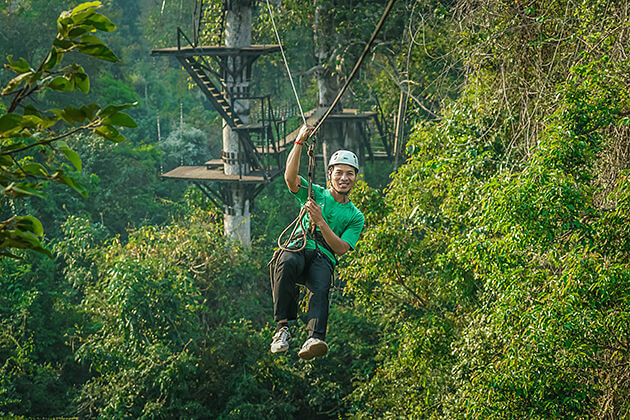 Angkor Zipline, Family tour in Cambodia
