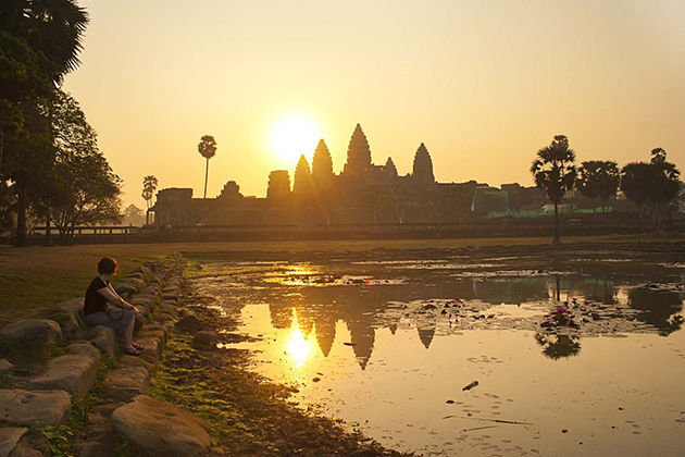 angkor wat sunrise siem reap, Cabodia local tour