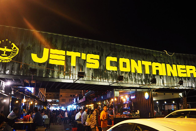 Jet's Container Night Market in Phnom Penh