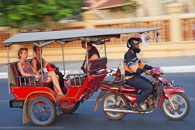 Tuk Tuk Transportation, Tour in Cambodia