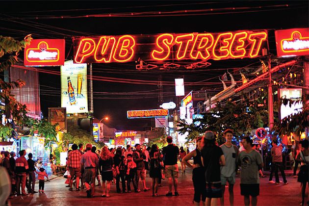 Unwind at the Pub Street - must do experiences in siem reap