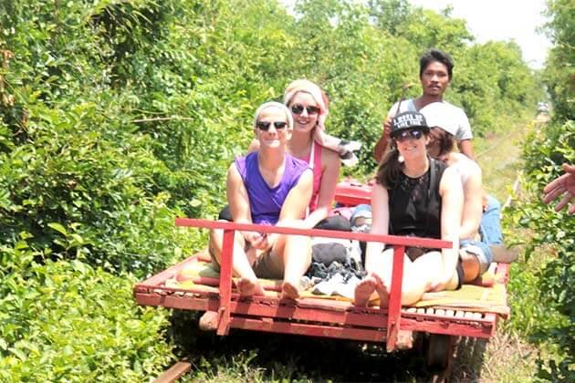 Bamboo train in Battambang, Cambodia Adventure Trips