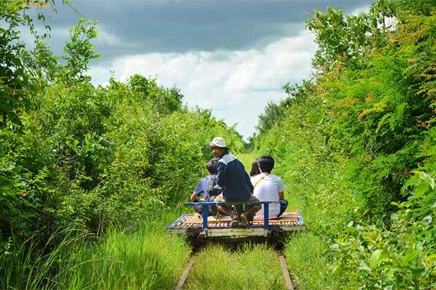 bamboo train, Cambodia itinerary