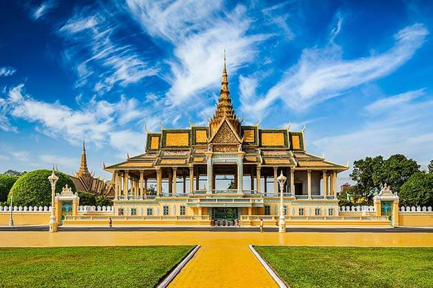 Royal Palace complex in Cambodia, Vacation in Cambodia