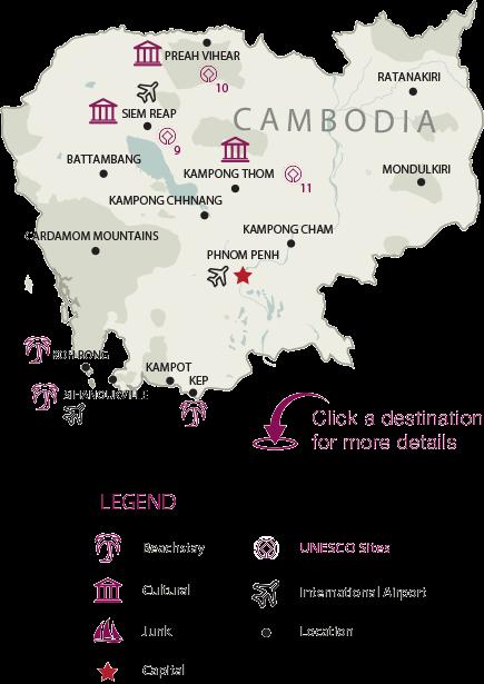 Cambodia Map, Cambodia Tours