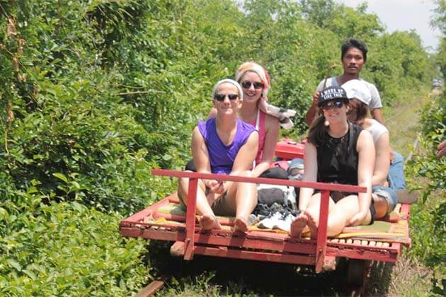 Bamboo train in Battambang, Cambodia Family trips