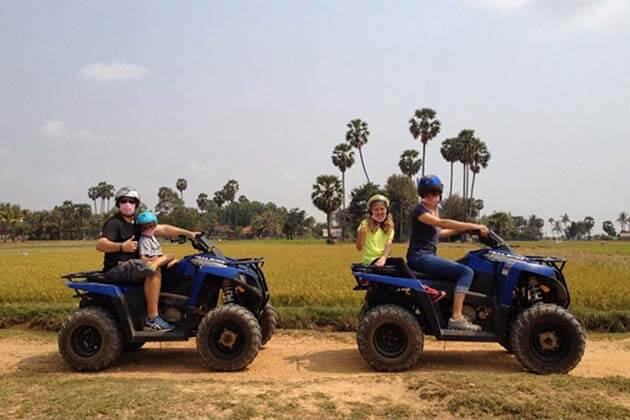 Quad Bike in Cambodia, Cambodia Family Packages