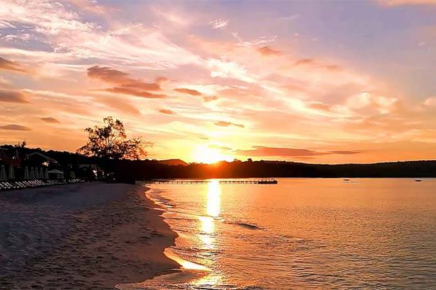Sunrise at Sok San Beach, Cambodia Beach Tour Packages